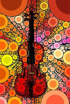Orange Violin Art