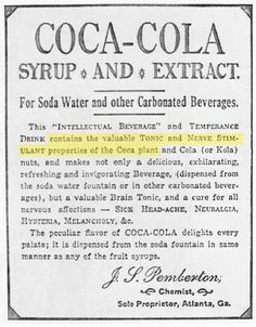 An early advertisement for Coca-Cola.