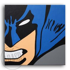 Classic Batman Set of 4 12x12 Wall Art by ArtofaSilentBee on Etsy
