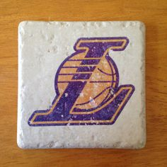 LA Lakers coasters $18 on Etsy