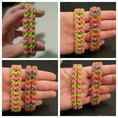 """My New Reversible """"Twist n Swirl"""" Rainbow Loom Bracelet/ How To Tutorial"""