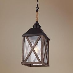 "Lamps Plus $469 over an island? Feiss Lumiere 9 1/2"" Wide Weathered Oak Mini Pendant Light"