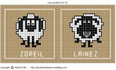 Shaun the sheep Knitting Charts, Knitting Stitches, Baby Knitting, Knitting Patterns, Motif Fair Isle, Fair Isle Pattern, Cross Stitch Designs, Cross Stitch Patterns, Cross Stitching