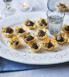 Mary Berry's miniature beef-and-horseradish tartlets are perfect as Christmas party canapés