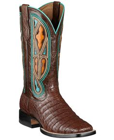 Ariat Tapadero Caiman Belly Cowboy Boots - Square Toe