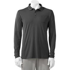 Today Buy - Big & Tall FILA Sport Golf Fitted Performance Polo, Mens, Size: XL TALL, Grey