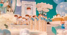 Inspiração decoração batizado ou dedicação Menino Fonte: http://gnt.globo.com/