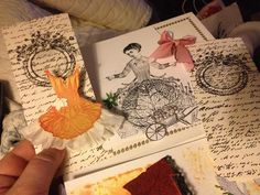 Ballet Collage by rarebird lisa. I adore working with Catherine Moore's Character constructions stamps