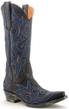 Ladies black and royal blue Diego cowboy boots by Old Gringo (via Cote Cote Allen & Cheryl Smith Boots) Blue Cowboy Boots, Cowboy Horse, Western Boots, Black Boots, Boot Scootin Boogie, Old Gringo Boots, Go Big Blue, Cowgirl Style, Fashion Boots
