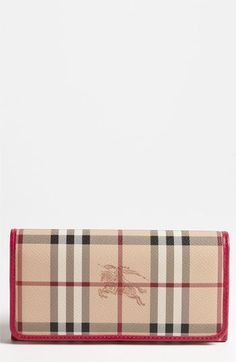 Burberry Haymarket Check Flap Wallet available at #Nordstrom