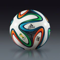 Adidas Brazuca 2014 Official Match Ball - white/night blue/multicolor   SOCCER.COM