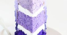 You won't believe how easy this cake is... one tip and three colors is all it takes! | i am baker community | Pinterest | Ruffle cake, Purple ombre and Ombre