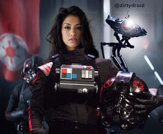 Female, Asian-like TIE Fighter Combat Pilot for The Empire.