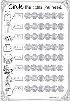 australian money australian coins mega math unit australian money money worksheets and math. Black Bedroom Furniture Sets. Home Design Ideas