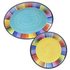 Serape 2 Piece Platter Set