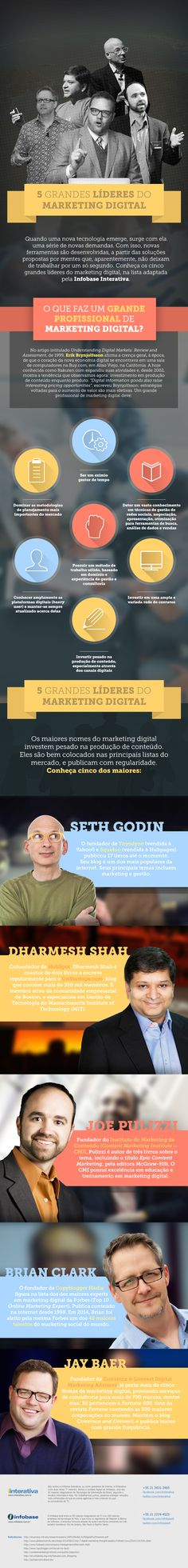 5 Grandes Líderes de Marketing Digital [infografico]