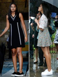 Malia and Sasha Obama Wear All of This Season's Trends on Spring Break in Cuba http://stylenews.peoplestylewatch.com/2016/03/21/malia-sasha-obama-cuba-dress/