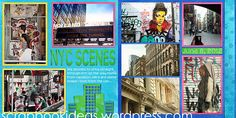 Double Page Scrapbook Layout about NYC