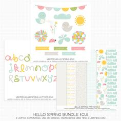 New, New, New! Freebies too! | MissTiina.com {Blog} === oh, heck, I want just about everything she designs