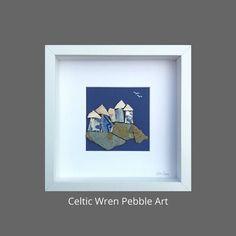 Clifftop Terrace, Irish coastal art created from genuine field pottery. My Moon And Stars, Coastal Art, Make A Gift, Couple Art, Wren, Box Frames, Pebble Art, Thoughtful Gifts, Celtic