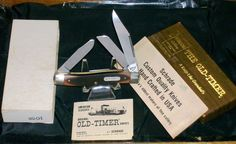 Schrade N.Y. 8OT Knife Old Timer Original Packaging Full Swage W/Long Pull Rare @ ditwtexas.webstoreplace.com