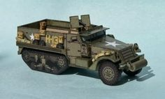 WW2`s M3 Halftrack Paper Model In 1/100 Scale - by Ringo  ==   A little paper model in 1//100 scale, but full of details. This is the M3 Halftrack, a WW2`s North American vehicle, created by Czech designer Ringo, from PR Models website.