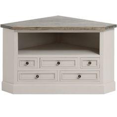 Mushroom Grey Painted Corner TV Cabinet – Allissias Attic & Vintage French Style