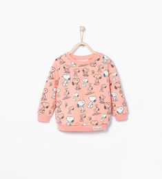 "Imagem 1 de Sweatshirt estampado ""snoopy"" da Zara"