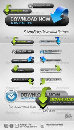5 Simple Download Buttons