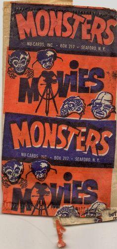 Horror Monsters wrapper (1961)