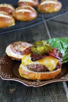 Hubba, hubba! That is one sexy burger! Bacon Jalapeno Burgers with Chipotle Mayonnaise!