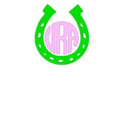 Circle Monogram Horse shoe vinyl decal by aLwAyScCd on Etsy, $4.00