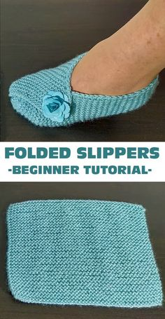 Easy Crochet Slippers, Knit Slippers Free Pattern, Crochet Socks, How To Make Slippers, Knitting For Beginners, Easy Knitting, Knitting Patterns Free, Crochet Patterns, Start Knitting
