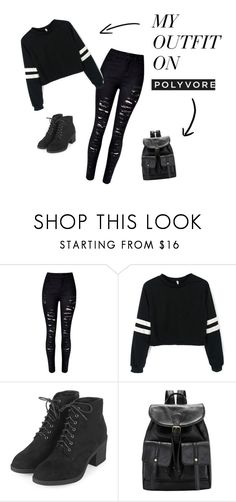 """Black Cat"" by nidaannes on Polyvore featuring WithChic and Topshop"