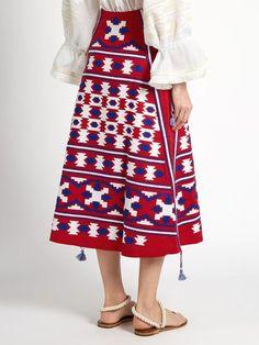 RED Midi Linen bohemian embroidered skirt with gometric pattern - Vyshyvanka Ukrainian skirt Mexican style- Vyshyvanka Boho skirt Mexican Costume, Kleidung Design, Ugly Outfits, Ukrainian Dress, Ethnic Dress, Linen Skirt, Boho Skirts, Fashion Fabric, Aesthetic Clothes
