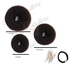 Beaute Galleria - Bundle 3 Pieces Chignon Hair Donuts Ring Style Bun Maker (Large, Medium, Small) (Brown) Beaute Galleria #donut_maker #donutmaker