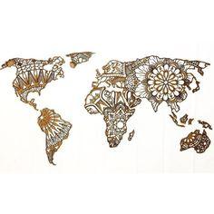 Opaaaa que tem mais um mapa saindo por aqui! feliz de saber q tanta gente gosta… Boho Tattoos, Tatoos, Karten Tattoos, World Map Tattoos, Map Crafts, Mandala Artwork, Paper Crafts Origami, Travel Drawing, Craft Club