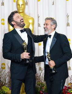 .George Clooney and Ben Affleck :)