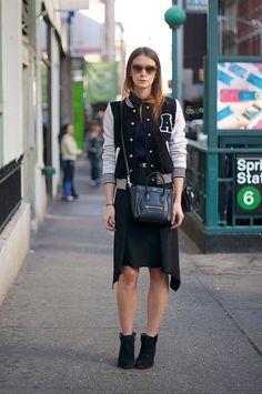 Forever 21 jacket, Marni skirt + Celine