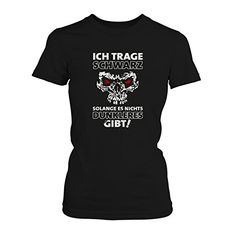 Ich trage schwarz solange es nichts dunkleres gibt! - Damen T-Shirt von Fashionalarm   Fun Shirt Metal Gothic Skull Dead Death Schädel Totenkopf Emo Motto, Farbe:schwarz;Größe:3XL