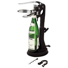 House Tabletop Wine Opener with SuctionGrip Stand >>> For more information, visit image link.