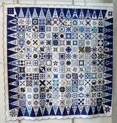 Mona's Creativity: Norwegian Quilt Show 2010 a blue dear jane quilt