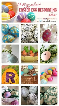 Get creative | 14 Easter Egg Decorating Ideas