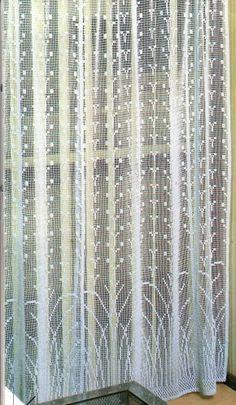 Tricot D'art, Filet Crochet Charts, Crochet Curtains, Something To Do, Diy And Crafts, Crochet Patterns, Knitting, Blog Crochet, Motifs
