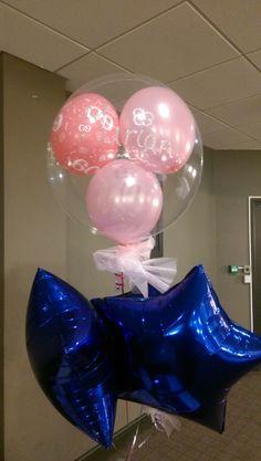 Clear Balloons, Glitter, Glow