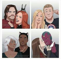 The only one of these I ship are Vision and Scarlet Witch, but I like the art work.