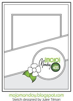 Mojo Monday 405 Card Sketch Sketch designed by Julee Tilman #vervestamps #mojomonday #cardsketches