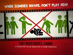 When #zombies invade, don't play dead … (that never work dummy !)