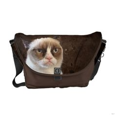 #GrumpyCat Rickshaw Medium #MessengerBag. Perfect as a workday commuter, overnight attaché, or travel bag. Water resistant.  $111.00