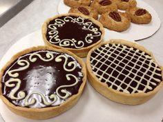 Ganache tart and Bourbon pecan cookies